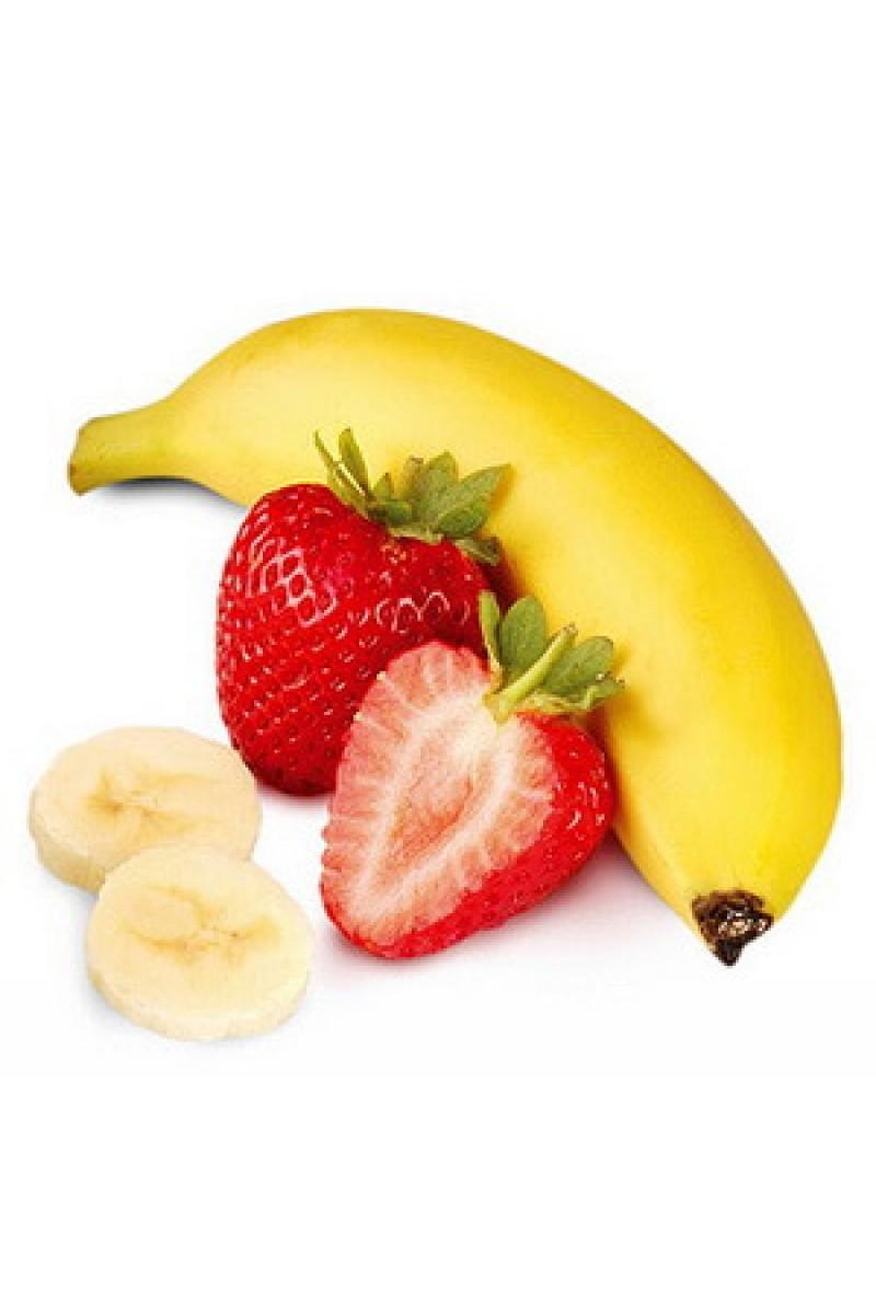 картинка где нарисован банан клубника и особенность данного блюда